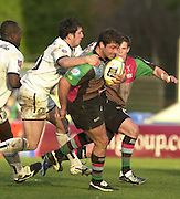Parker Pen Challenge Cup 14/01/2004 Harlequins v Brive.1st leg...Quins's Pat Sanderson on the break   [Mandatory Credit, Peter Spurier/ Intersport Images].
