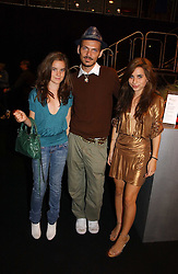 Left to right, AMBA JACKSON daughter of Jade Jagger, fashion designer MATTHEW WILLIAMSON and ASSISI JACKSON daughter of Jade Jagger at a party hosted by retail property group Westfield at the Natural History Museum, Cromwell Road, London SW7 on 17th September 2006.<br />