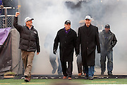 The Baltimore Ravens coaches at the teams Super Bowl XLVII Celebration at M&T Bank Stadium on Tuesday, February 5, 2013 in Baltimore, MD.
