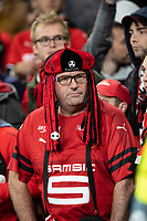 Football - 2018 / 2019 UEFA Europa League - Round of Sixteen, Second Leg: Arsenal (1) vs. Rennes (3)<br /> <br />  Rennes FC fan awaits kick off at The Emirates.<br /> <br /> COLORSPORT/DANIEL BEARHAM