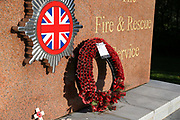 The Fire and Rescue Service Memorial at the National Memorial Arboretum, Croxall Road, Alrewas, Burton-On-Trent,  Staffordshire, on 29 October 2018. Picture by Mick Haynes.