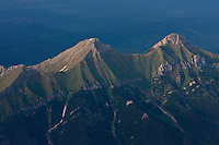 Aerial view of mount Havran (2152m asl) in the White Tatras. High Tatras, Slovakia. June 2009. Mission: Ticha