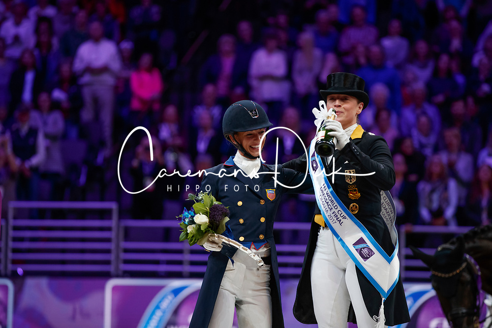 Werth Isabell, GER, Graves Laura, USA<br /> Grand Prix Freestyle<br /> Longines FEI World Cup Dressage, Omaha 2017 <br /> © Hippo Foto - Stefan Lafrentz<br /> 01/04/2017