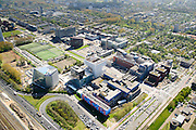 Nederland, Noord-Holland, Amsterdam, 09-04-2014; Zuid-as, overzicht campus van de Vrije Universiteit VU. Met VUmc Cancer Center en ACTA (tandheelkunde), Academisch Ziekenhuis Vrije Universiteit VUmc. Linksonder OVC real estate (iov Deloitte). Overzicht Buitenveldert.<br /> Zuid-as, 'South axis', financial center in the South of Amsterdam, with ith University Hospital VUmc (Vrije Universiteit) and VU MC Cancer Center.<br /> Amsterdam equivalent of 'the City', financial district. <br /> luchtfoto (toeslag op standard tarieven);<br /> aerial photo (additional fee required);<br /> copyright foto/photo Siebe Swart