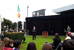 The Interfaith Service and Unveiling of Necrology Wall, Glasnevin Cemetery, Sunday 3 April 2016.<br />An Taoiseach Enda Kenny TD.