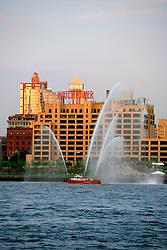 USA NEW YORK JUN10 - View of the Brooklyn skyline from downtown Manhattan, New York...jre/Photo by Jiri Rezac..© Jiri Rezac 2010