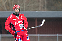 2018-11-11 | Jönköping, Sweden: Jönköping Bandy IF (21) Lukas Wahlgren during the game between Jönköping Bandy IF and Åtvidaberg BK at Råslätts IP ( Photo by: Marcus Vilson | Swe Press Photo )<br /> <br /> Keywords: Råslätts IP, Jönköping, Bandy, Div. 1 Södra, Jönköping Bandy IF, Åtvidaberg BK, Lukas Wahlgren