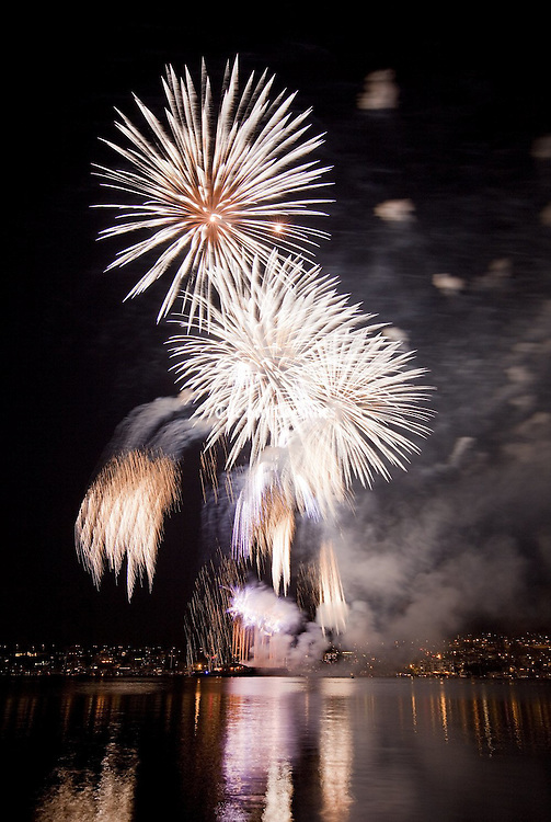 Fourth of July at Gas Works Park on  <br />