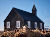 Búðakirkja black church of Búðir, Snæfellsnes Peninsula, West Iceland.