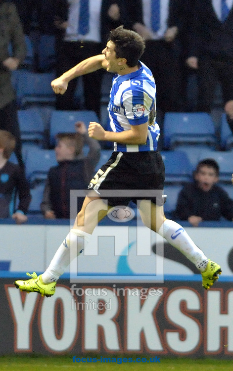 Fenando Forestieri of Sheffield Wednesday celebrates his goal against Nottingham Forest during the Sky Bet Championship match at Hillsborough, Sheffield<br /> Picture by Graham Crowther/Focus Images Ltd +44 7763 140036<br /> 31/10/2015