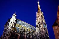 St. Stephen's Cathedral at twilight, Vienna, Austria
