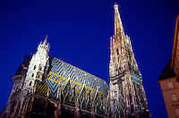 St. Stephen's Cathedral at twilight, Vienna, Austria