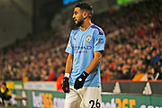 Riyad Mahrez in action during the Premier League match between Sheffield United and Manchester City at Bramall Lane, Sheffield, England on 21 January 2020.