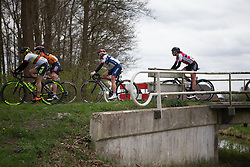 Stephanie Pohl (GER) of Cervélo-Bigla Cycling Team rides in the break in the third lap of Stage 3 of the Healthy Ageing Tour - a 154.4 km road race, between  Musselkanaal and Stadskanaal on April 7, 2017, in Groeningen, Netherlands.