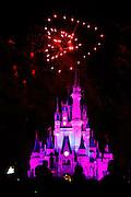 Orlando, Florida, USA, 20090324: The Disney Magic Kingdom in Orlando. Fireworks over the Cinderella Castle. Photo: Orjan F. Ellingvag/ Dagbladet/ Corbis