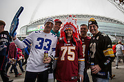 NFL fans outside Wembley, during the International Series match between Washington Redskins and Cincinnati Bengals at Wembley Stadium, London, England on 30 October 2016. Photo by Jason Brown.