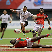 Fiji played a disciplined Cup Final taking advantage of every Kenyan miscue in their 31-12 Cup Final Championship at the Canada 7's, Day 2, BC Place, Vancouver, British Columbia, Canada.  Photo by Barry Markowitz, 3/11/18, 3pm
