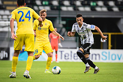 Staniša Mandić of Mura and Slobodan Vuk of Domzale during football match between NŠ Mura and NK Domžale in 30th Round of Prva liga Telekom Slovenije 2019/20, on June 28, 2020 in Fazanerija, Murska Sobota, Slovenia. Photo by Blaž Weindorfer / Sportida