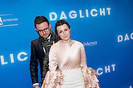 AMSTERDAM - In het Tuschinski Theater is de Nederlandse Triller 'Daglicht' in Premiere gegaan. Met op de foto Victoria Koblenko en haar broer. FOTO LEVIN DEN BOER - PERSFOTO.NU