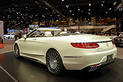 09 February 2017: Mercedes Benz Maybach S650 convertible<br /> <br /> First staged in 1901, the Chicago Auto Show is the largest auto show in North America and has been held more times than any other auto exposition on the continent.  It has been  presented by the Chicago Automobile Trade Association (CATA) since 1935.  It is held at McCormick Place, Chicago Illinois<br /> #CAS17