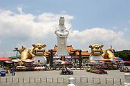 Jhongjheng Park, Goddess of Mercy statue, Keelung, Taiwan.