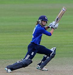 England's Heather Knight cuts the ball - Photo mandatory by-line: Harry Trump/JMP - Mobile: 07966 386802 - 21/07/15 - SPORT - CRICKET - Women's Ashes - Royal London ODI - England Women v Australia Women - The County Ground, Taunton, England.