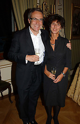 MR & MRS STEPHEN BAYLEY he was the design consultant for the Millenium Dome at a reception to open an exhibition entitled 'Boucher Seductive Visions' at The Wallace Collection, Manchester Square, London W1 on 29th September 2004.NON EXCLUSIVE - WORLD RIGHTS