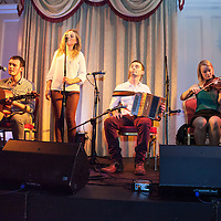 The Tri Tones playing traditional music during the Launch of their CD, at the Old Ground Hotel during the Ennis Trad Festival 2014
