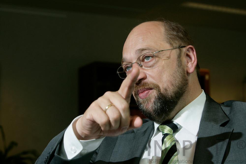 BRUSSELS - BELGIUM - 14 JUNE 2007 -- MEP Martin SCHULZ, the PSE Group. Photo: Erik Luntang