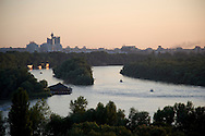 A view of the Danube River from Belgrade, Serbia