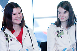 Ana Srebrnic and Vesna Rozic at  press conference of Slovenian Chess Federation before 38th Chess Olympiad 2008 in Dresden, Germany, on November 11, 2008, in Ljubljana, Slovenia. (Photo by Vid Ponikvar / Sportida)