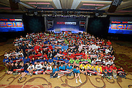 Student participants of the 2012 Raytheon MATHCOUNTS National Competition from across the world pose for a group photo. (Photo by Phelan M. Ebenhack/for Raytheon)