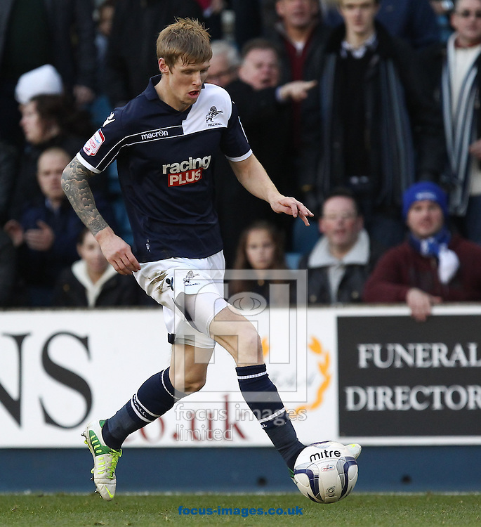Picture by John  Rainford/Focus Images Ltd +44 7506 538356.18/11/2012.Andy Keogh of Millwall  during the npower Championship match at The Den, London.