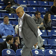 Delaware 87ers Head Coach Rod Baker seen pacing the sideline in the second half of a NBA D-league regular season basketball game between the Delaware 87ers and The Fort Wayne Mad Ants Sunday, Dec. 15, 2013 at The Bob Carpenter Sports Convocation Center, Newark, DE