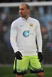 PAOLO ZABALETA  MANCHESTER CITY, Aston Villa v Manchester City, The Emirates FA Cup 4th Round Villa Park Saturday 30th January 2016