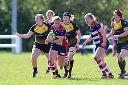 Izzy Noel Smith of Bristol Ladies charges forward  - Mandatory by-line: Dougie Allward/JMP - 26/03/2017 - RUGBY - Cleve RFC - Bristol, England - Bristol Ladies v Wasps Ladies - RFU Women's Premiership