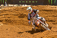 Agueda, Portugal, 5th May 2013, World Championship MX1, Portuguese Rui Goncalves with a KTM, 9th race 1 and  11th in race 2