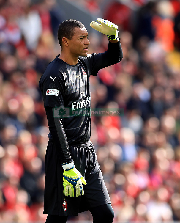 Milan's Dida during the Legends match at Anfield Stadium, Liverpool.