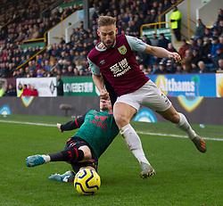 Mahmoud Hassan of Aston Villa (L) tackles Charlie Taylor of Burnley - Mandatory by-line: Jack Phillips/JMP - 01/01/2020 - FOOTBALL - Turf Moor - Burnley, England - Burnley v Aston Villa - English Premier League