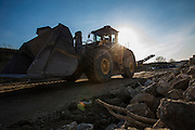 Sylvestre Group's recycling plant in Maubec, here a Volvo Construction wheel loader L150H. Photo: Erik Luntang