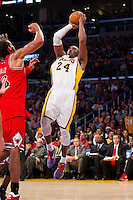 25 December 2011: Guard Kobe Bryant of the Los Angeles Lakers shoots the ball against the Chicago Bulls during the second half of the Bulls 88-87 victory over the Lakers at the STAPLES Center in Los Angeles, CA.