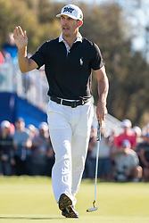 January 25, 2019 - San Diego, CA, U.S. - SAN DIEGO, CA - JANUARY 25: Billy Horschel during the second round of the Farmers Insurance Open at Torrey Pines Golf Club on January 25, 2019 in San Diego, California.(Photo by Alan Smith/Icon Sportswire) (Credit Image: © Alan Smith/Icon SMI via ZUMA Press)