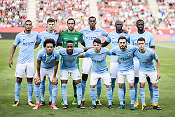 August 15, 2017 - Girona, Spain - Manchester City team during the Costa Brava Trophy match between Girona FC and Manchester City at Estadi de Montilivi on August 15, 2017 in Girona, Spain. (Credit Image: © Xavier Bonilla/NurPhoto via ZUMA Press)