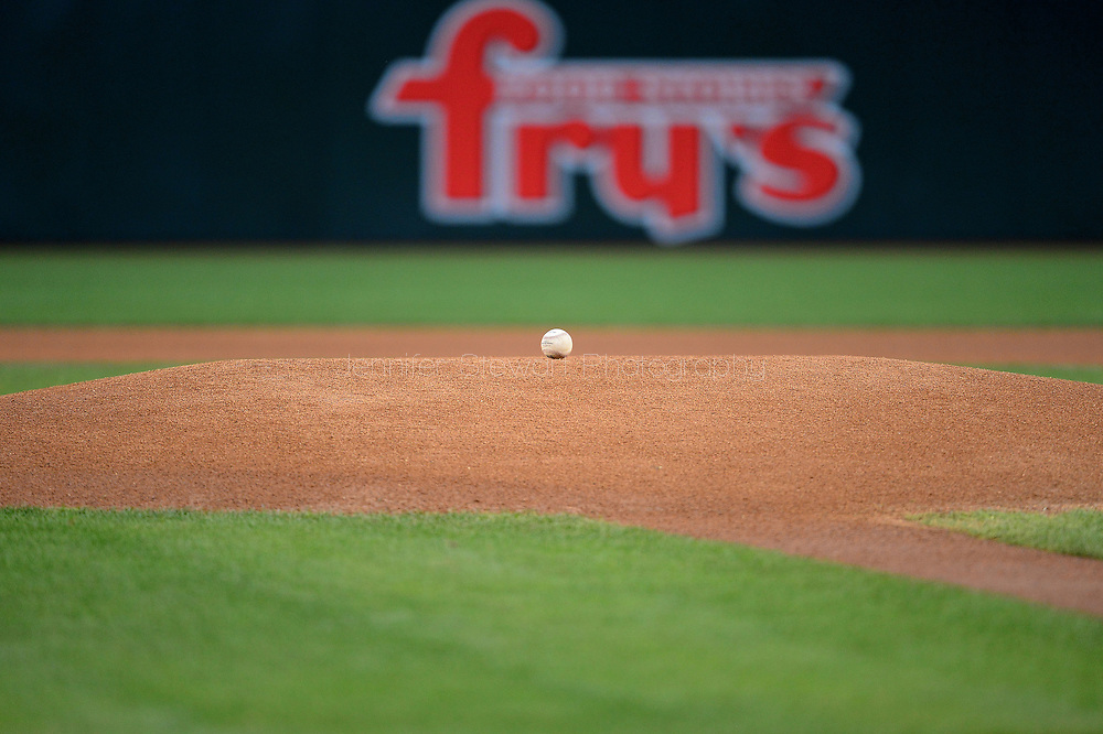 PHOENIX, AZ - APRIL 26:  A detailed view a baseball sitting on the mound at Chase Field on April 26, 2016 in Phoenix, Arizona.  (Photo by Jennifer Stewart/Getty Images)