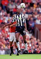 Carl Cort (Newcastle United)20/8/2000 Manchester United v Newcastle United. Credit: Colorsport.