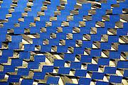The PS10 solar tower plant sits at Sanlucar la Mayor outside Seville on April 29, 2008 in Seville, Spain. The solar tower plant, the first commercial solar tower in the world, by the Spanish company Solucar (Abengoa), can provide electricity for up to 6,000 homes. Solucar (Abengoa) plans to build a total of 9 solar towers over the next 7 years to provide electricity for an estimated 180,000 homes. Photographer: Markel Redondo/Fedephoto for Greenpeace.Site de la tour PS10 de la centrale solaire de Sanlucar la Mayor, pres de Seville, Espagne. La centrale solaire, la premiere centrale commerciale au monde, appartenant a la societe espagnole Solucar (Abengoa), peut produire de l'electricte pour 6000 habitations. Solucar (Abengoa) projete de construire un total de 9 nouvelles tours dans les 7 ans qui viennent, afin de fournir 180 000 habitations en electricite. Photographe: Markel Redondo/Fedephoto pour Greenpeace...The PS10 solar tower plant sits at Sanlucar la Mayor outside Seville, Spain. The solar tower plant, the first commercial solar tower in the world, by the Spanish company Solucar (Abengoa), can provide electricity for up to 6,000 homes. Solucar (Abengoa) plans to build a total of 9 solar towers over the next 7 years to provide electricity for an estimated 180,000 homes.