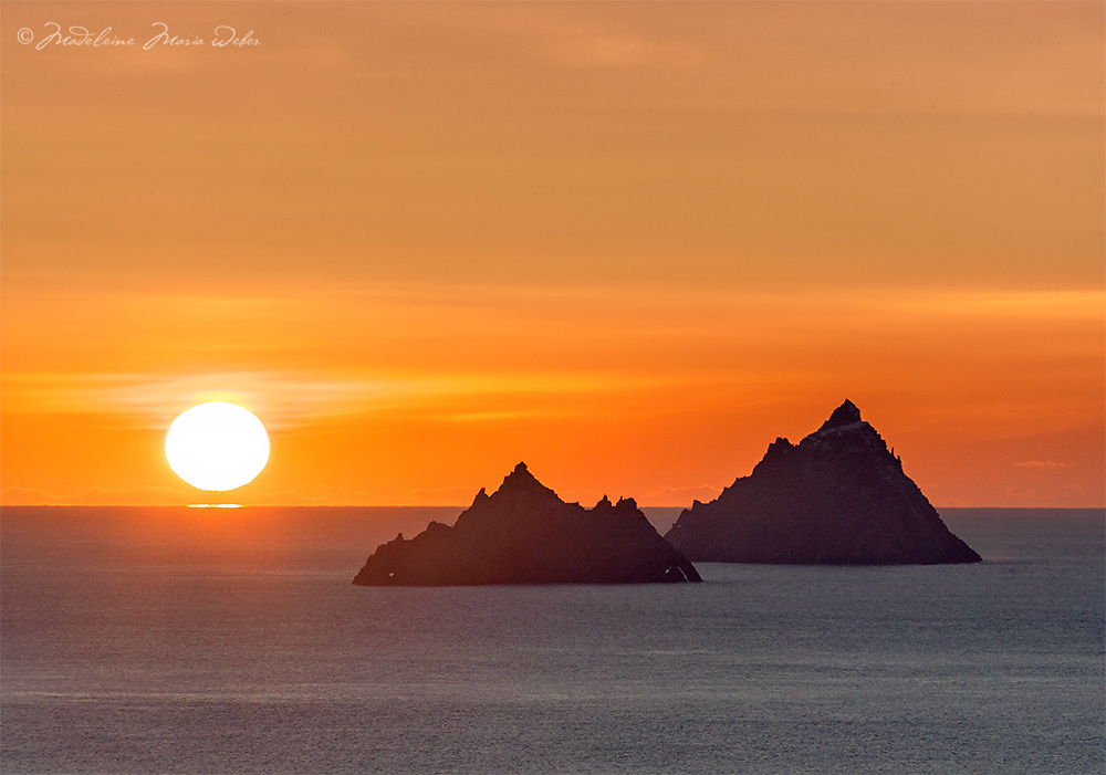 Mystical Skelligs Sunset, County Kerry, Ireland - The Wild Atlantic Way ****** <br />
