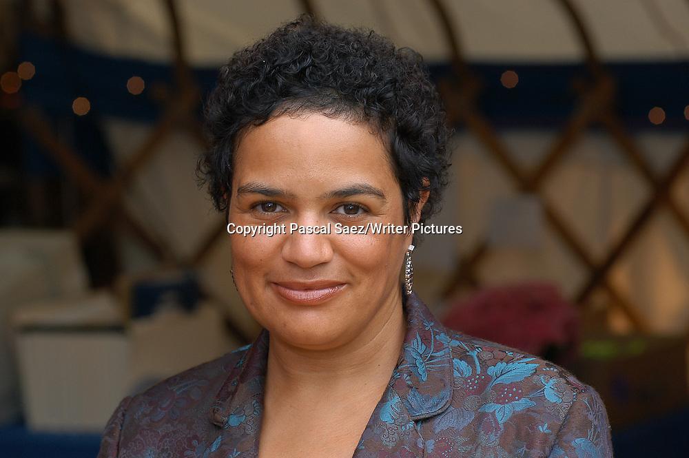 Novelist, poet and broadcaster Jackie Kay at the Edinburgh International Book Festival 2004<br /> <br /> Copyright Pascal Saez<br /> Pascal Saez / Writer Pictures