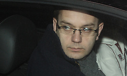 © under license to London News Pictures. 23/01/20011. Andy Coulson, David Cameron's former Director of Communications, leaving his South London home today (Sun). Picture Credit should read: Carmen Valino/London News Pictures.
