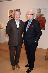 Left to right, brothers and co-owners of Prestat BILL KEELING and NICK CREAN at a reception to launch Prestat's special edition of their award-winning chocolate bars to raise money for the charity Walking with the Wounded held at Sladmore Gallery, Bruton Place, London on 10th October 2013.